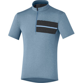 Shimano Transit Pavement Bike Jersey Shortsleeve Men blue